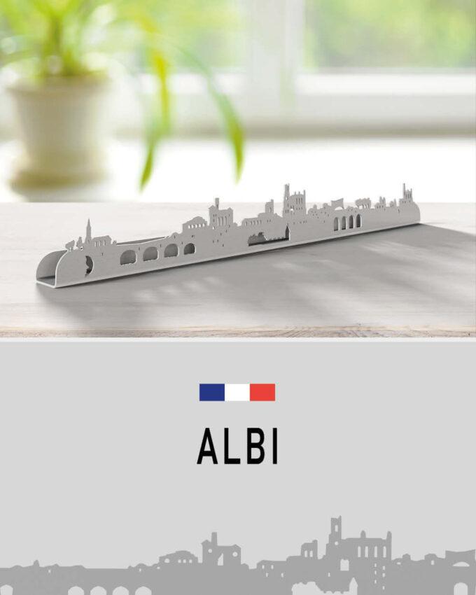Skyline Albi silhouette murale de la ville