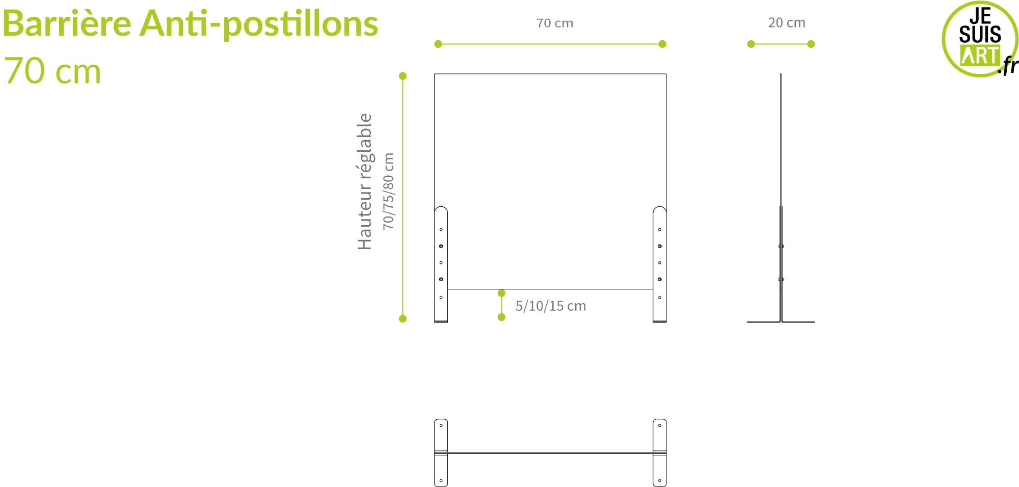 Barrières Anti-postillons 70x80 cm