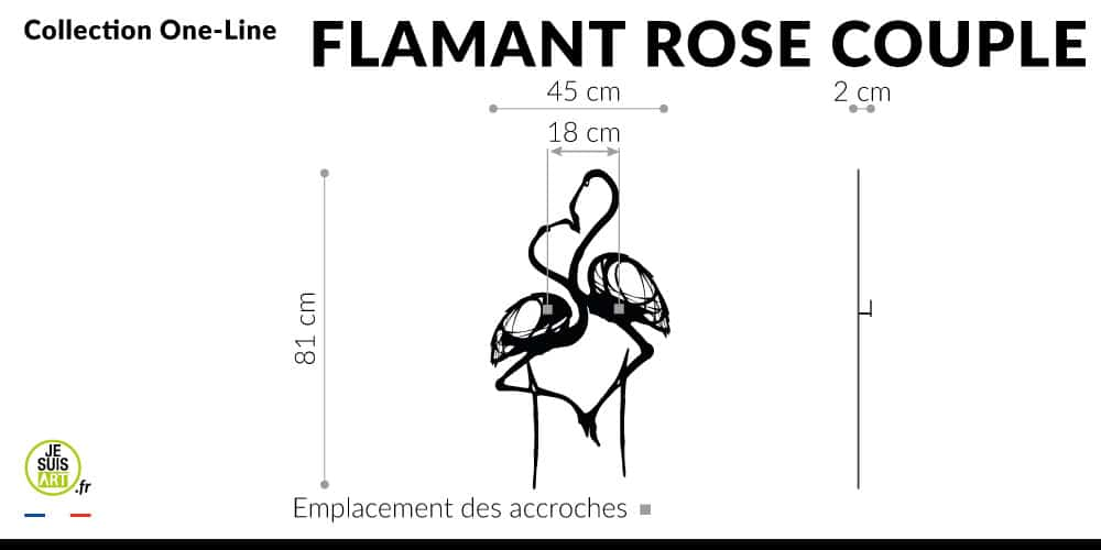 Flamant-rose-couple_Animaux_One-Line