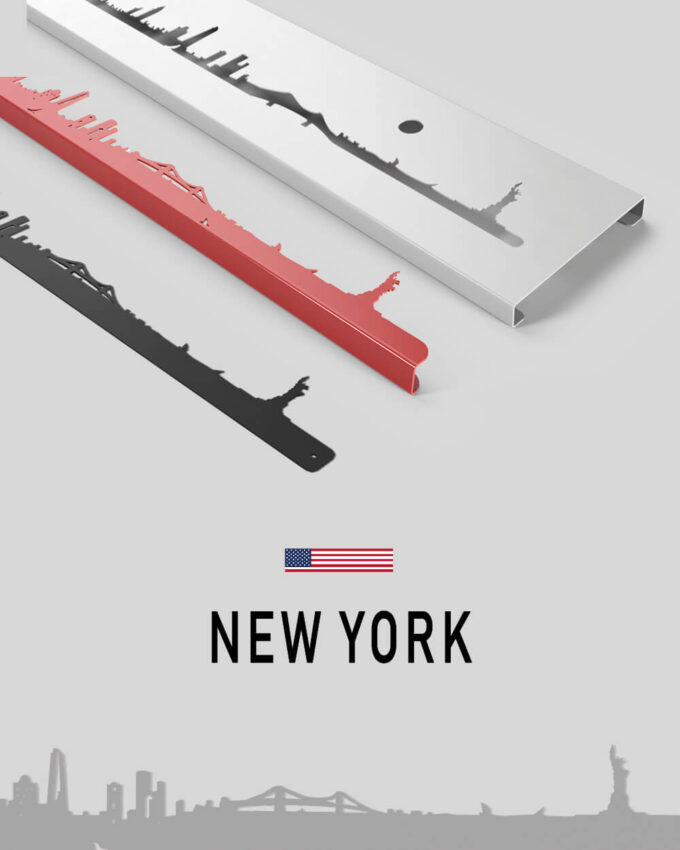 Skyline New-York, silhouette murale de la ville