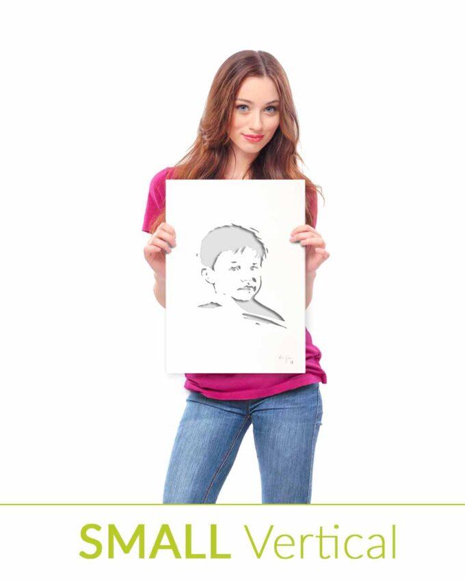 Portrait en métal personnalisé Small Vertical