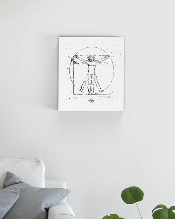 Homme de Vitruve Leonardo Da Vinci