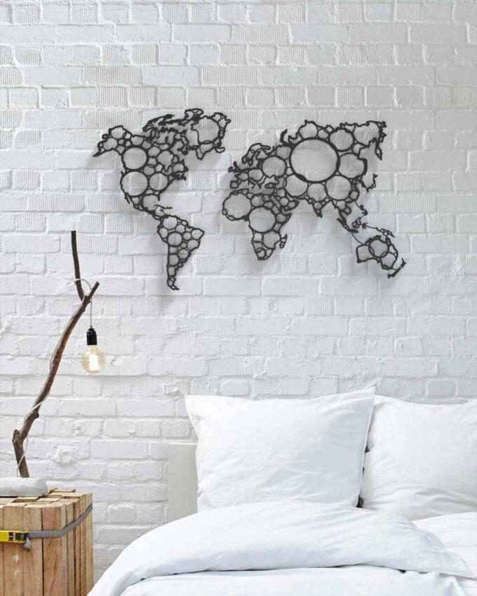 World Circles Décoration_murale version noire