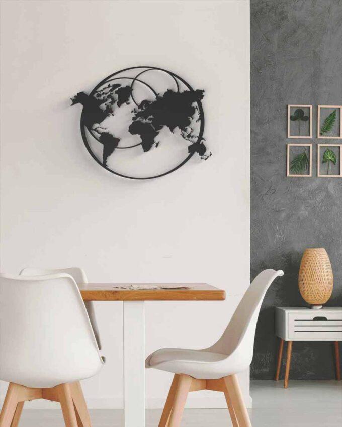 Tableau planisphère world earth